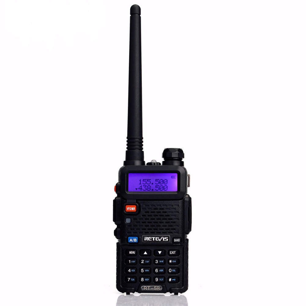 Retevis RT-5R Walkie Talkie 5W Dual Band VHF/UHF Ham Two Way Radio CTCSS/DCS Portable Amateur Radio Transceiver RU