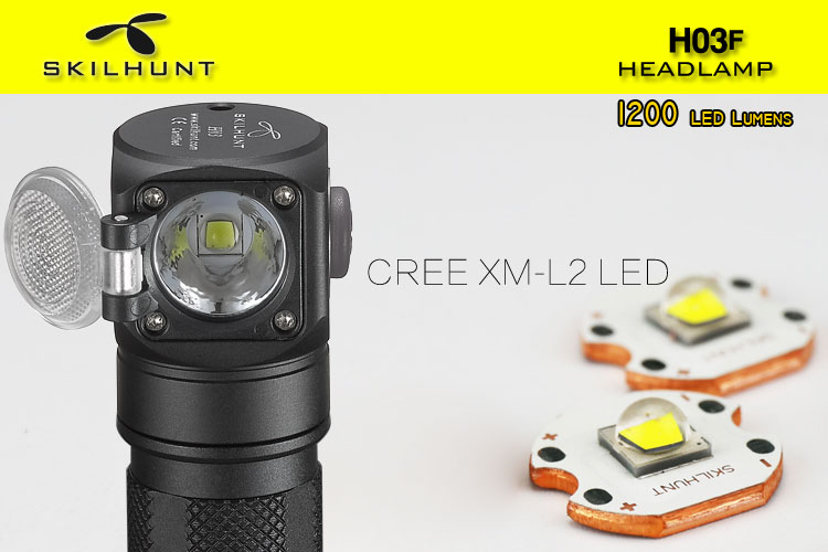 SKILHUNT H03F L2 U4 1200LM Adjustable LED Flashlight Headlamp