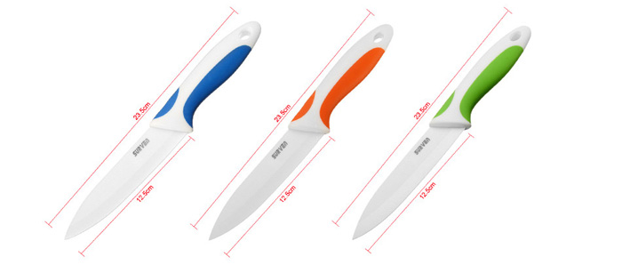 SURVEN 5 Inch Ceramic Knife Paring Fruit Vegetable Utility Chef Ceramic Knife