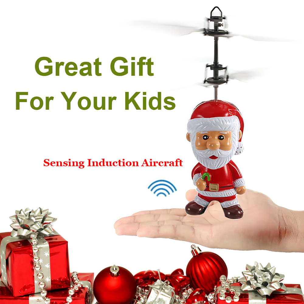 Wholesale 10 PCS Induced Flying Santa Claus Inductive Toys Christmas Gift for Kid