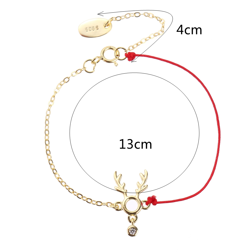 Fashion Lucky Thin Red Rope 925 Sterling Silver Bracelet