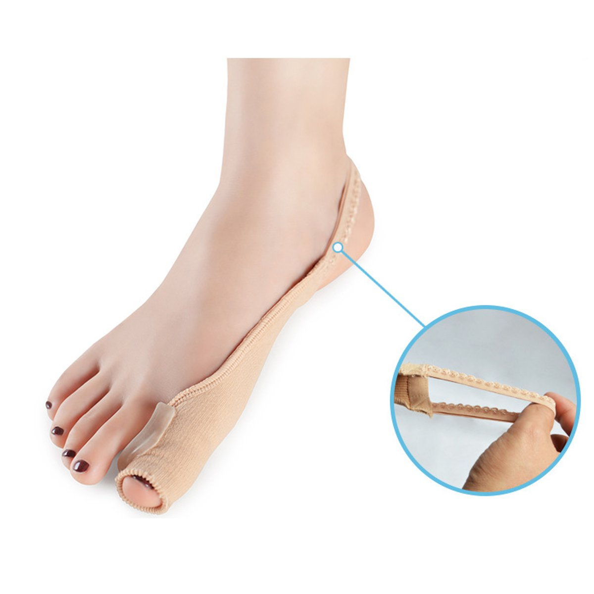 1 Pair Hallux Valgus Bunion Splint Big Toe Correction Separator Pedicure Foot Care
