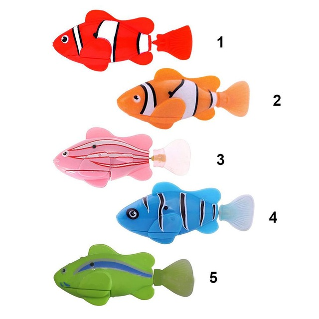 Swim Electronic Robofish Activated Battery Powered Robo Pet Toys fish Robotic Pet for Fishing Tank