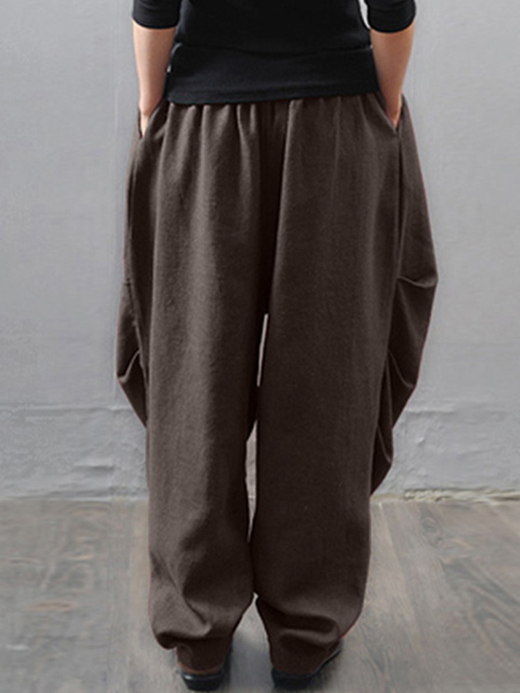 M-5XL Casual Women Loose Baggy Harem Pants