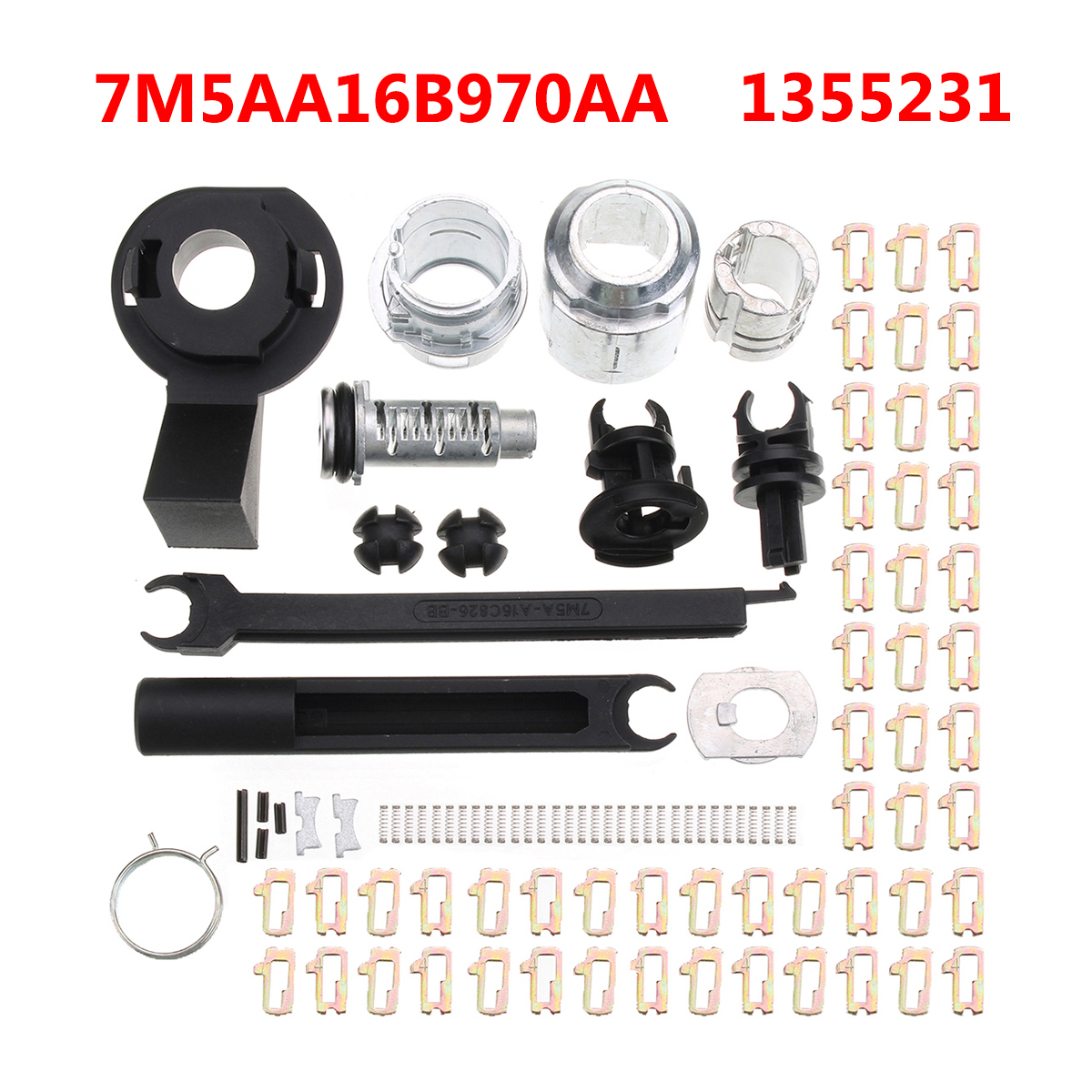 Bonnet Release Lock Repair Kit Latch for Ford Focus MK2 2004-2012 7M5AA16B970AA