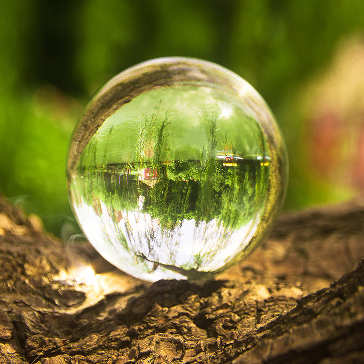 50/80mm K9 Clear Crystal Glass Ball Photography Lensball Photo Prop Background Decorations Gift