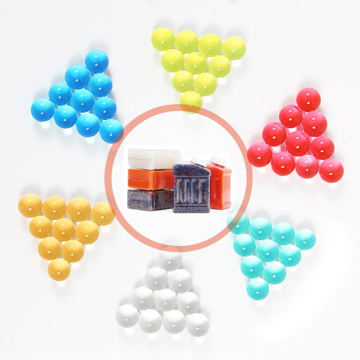 32000Pcs Hardened Gel Ball Water Beads 7-8mm/9-11mm For JinMing Toy