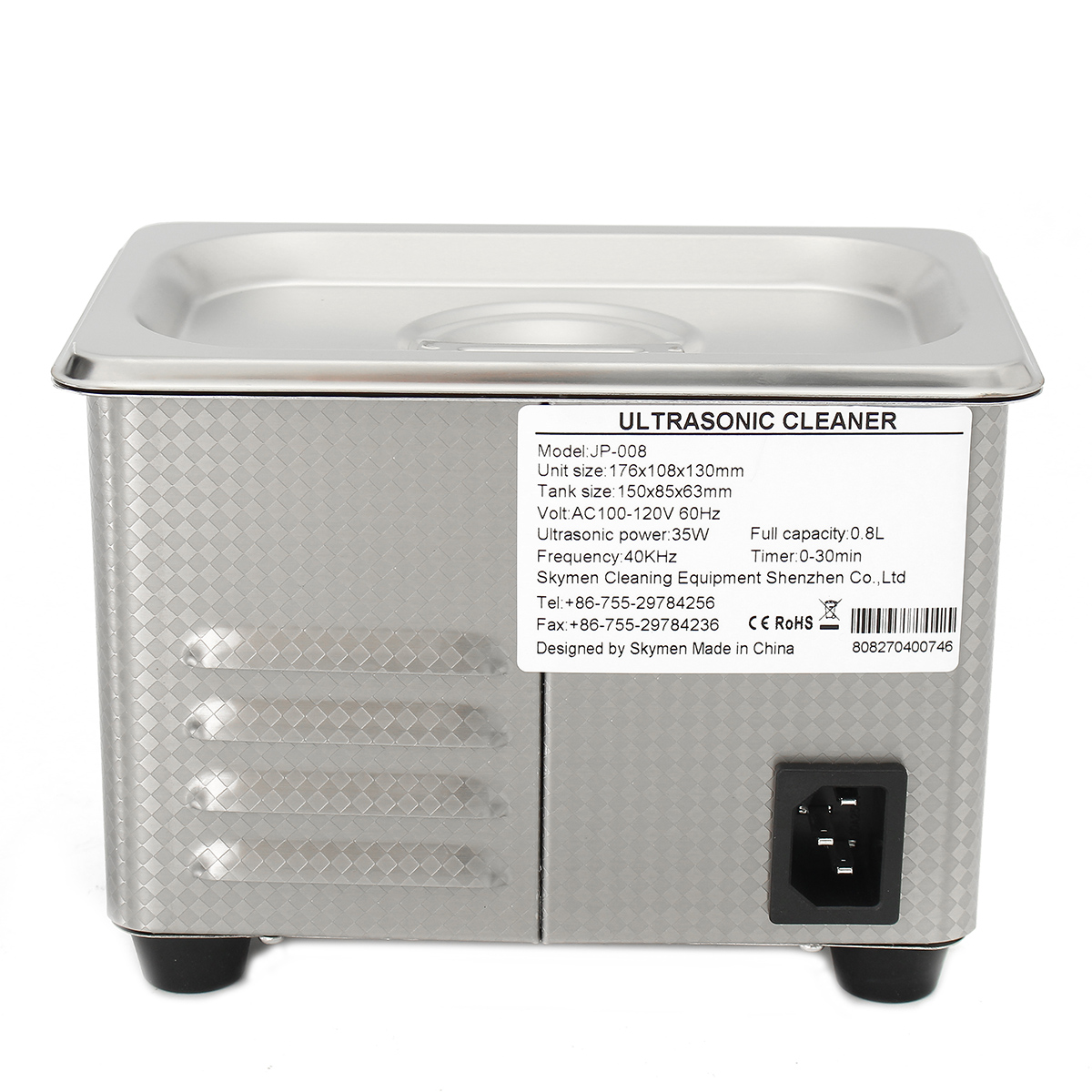 Stainless Steel Digital Ultrasonic Cleaner Dental Tank Heater Cleaning Equipment