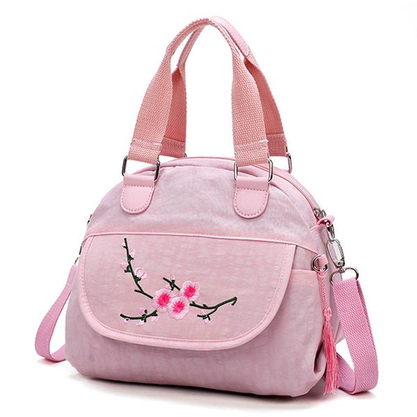 Flower Pattern Nylon National Style Handbag Shoulder Bag
