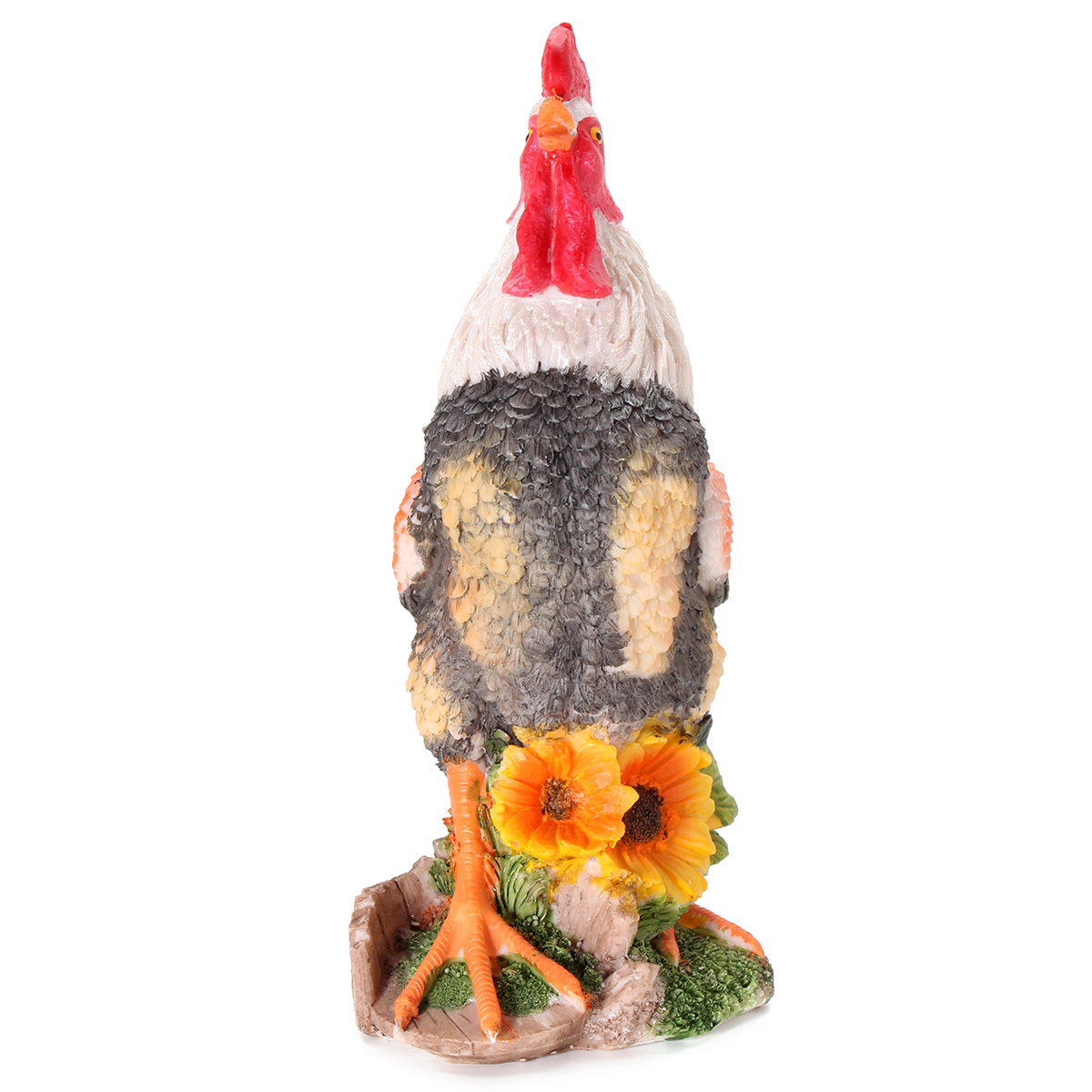 Colorful Resin Rooster Garden Animal Statue Ornament Farmyard Sculpture Decorations