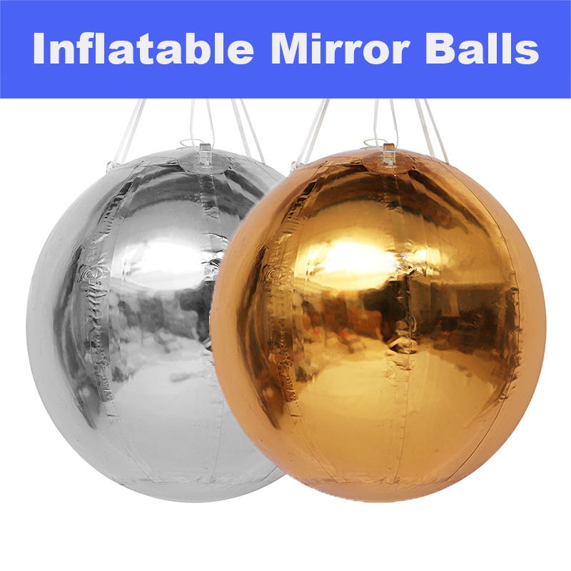 Gold Silver Chrome PVC Inflatable Mirror Balls Events Fairs Clubs Rooms Balloon