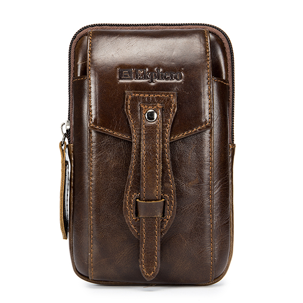 Ekphero Genuine Leather Vintage Phone Pouch