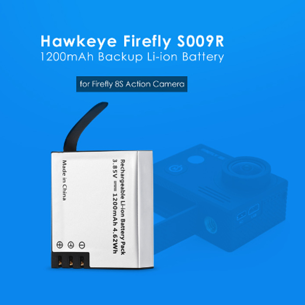 3.85V 1200mah Li-ion Replacement Battery for Firefly 8s Action Camera