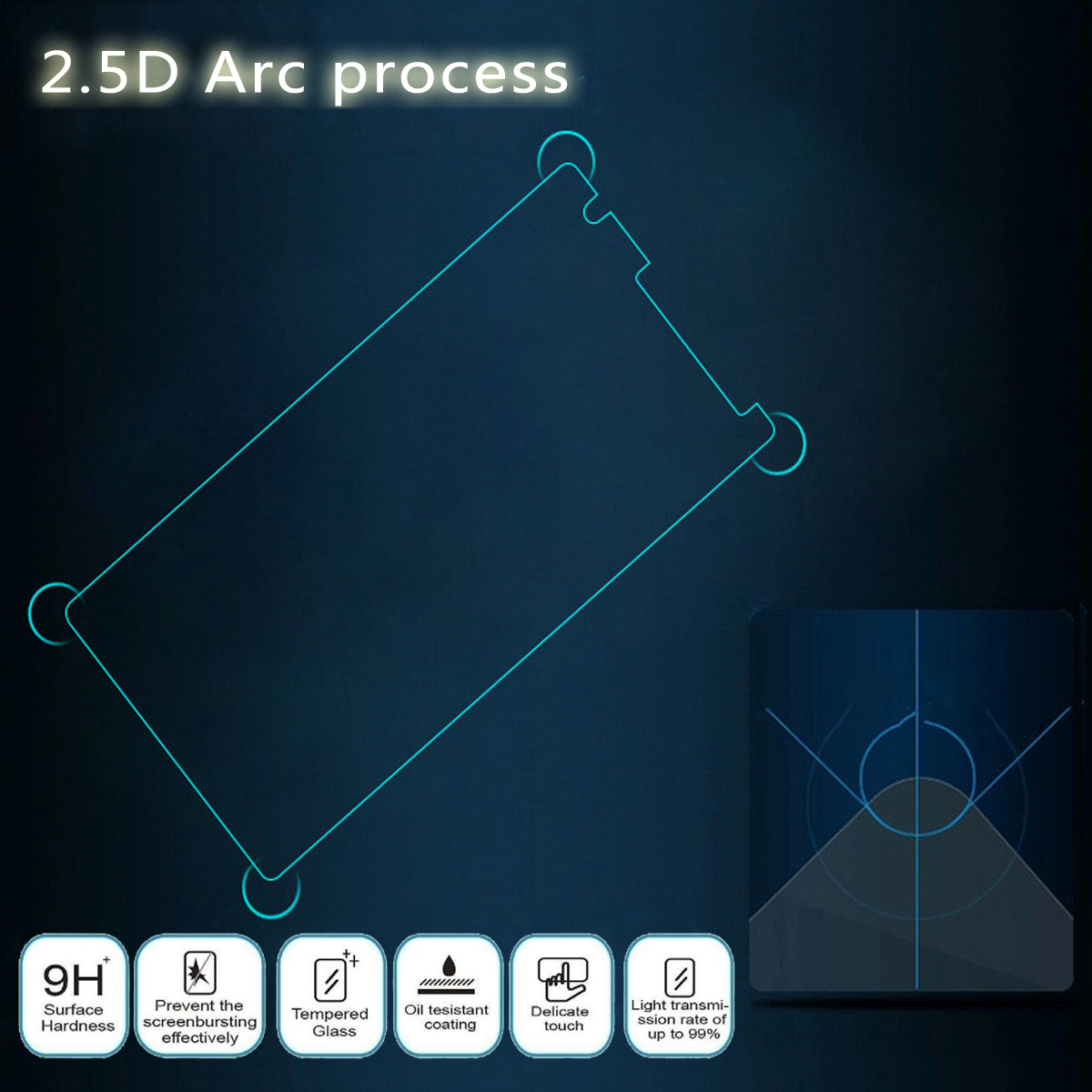 9H Full Cover Tempered Glass Touch Screen Protector Film Replacement For LG G6