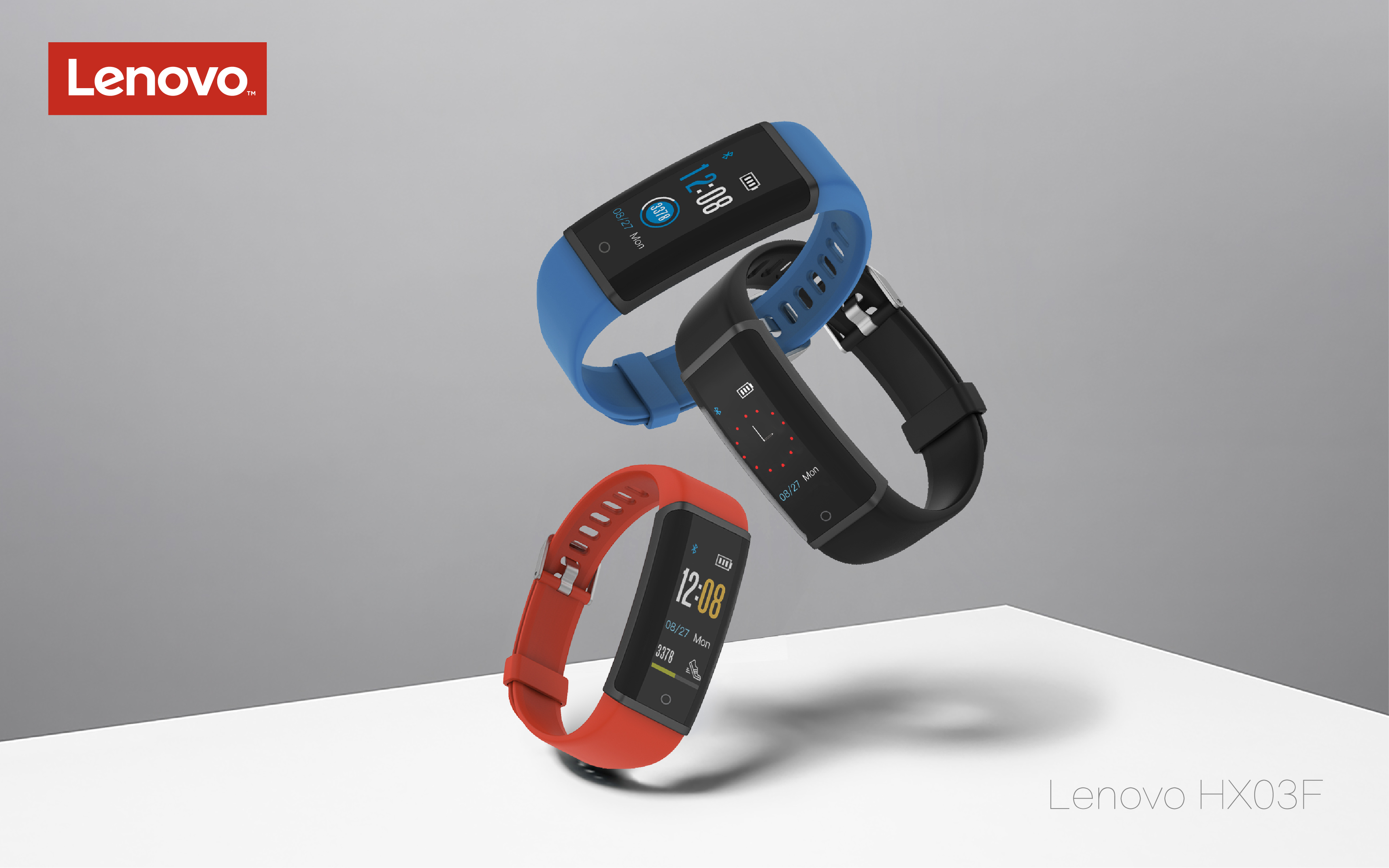 Lenovo HX03F IP68 Waterproof bluetooth 4.2 Touch Screen Heart Rate Sleep Monitor Smart Wristband