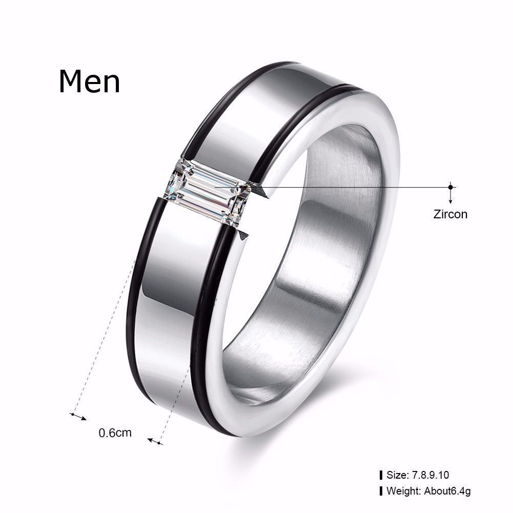 Heart Crystal Forever Love Couple Finger Ring Women Men Jewelry Wedding Birthday Gift