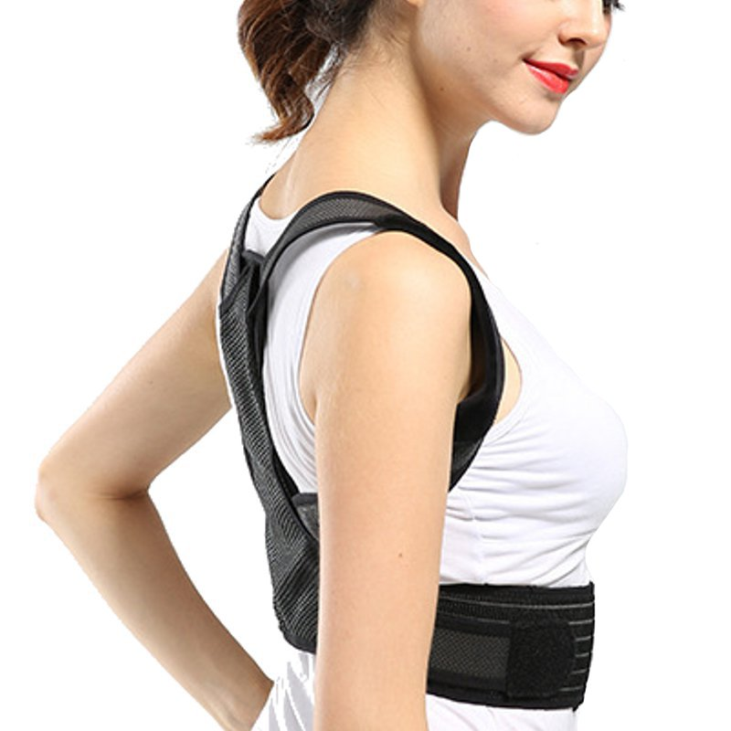 Breathable Adjustable Humpback Corrector Lumbar Back Support Brace Shoulder Band Belt