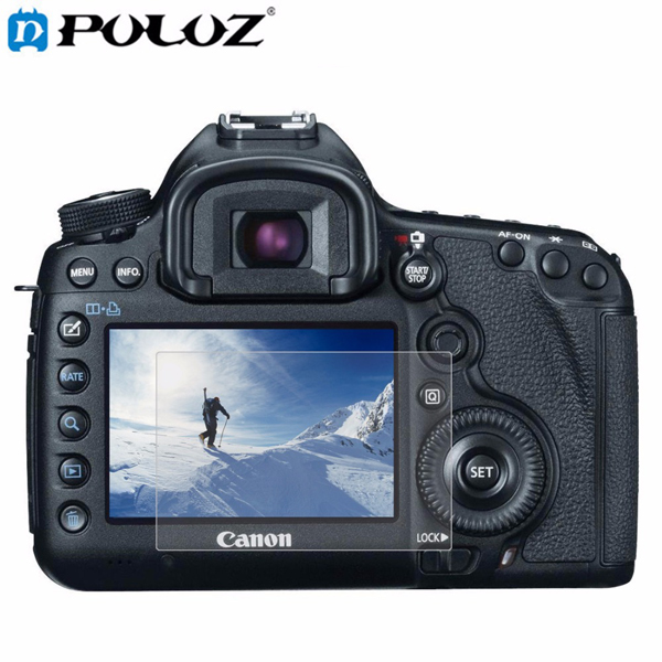 PULUZ Camera 2.5D Curved Edge 9H Hardness Tempered Glass Screen Protector for Canon 5D Mark III