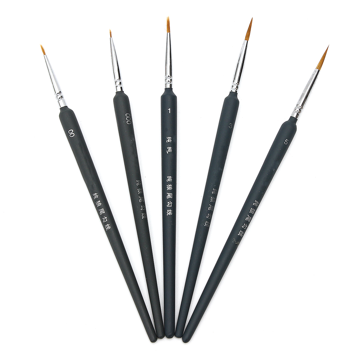 5-Pc. Artist Paint Brush Set Artist Draw Brush Round Handle Hook Line Detail Art Painting Brush