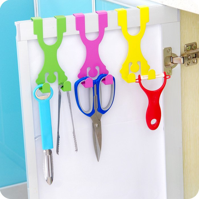 Cute Man Shape Stainless Over Door Hooks Cabinet Draw Clothes Holder Hanger Home Decor Novelty