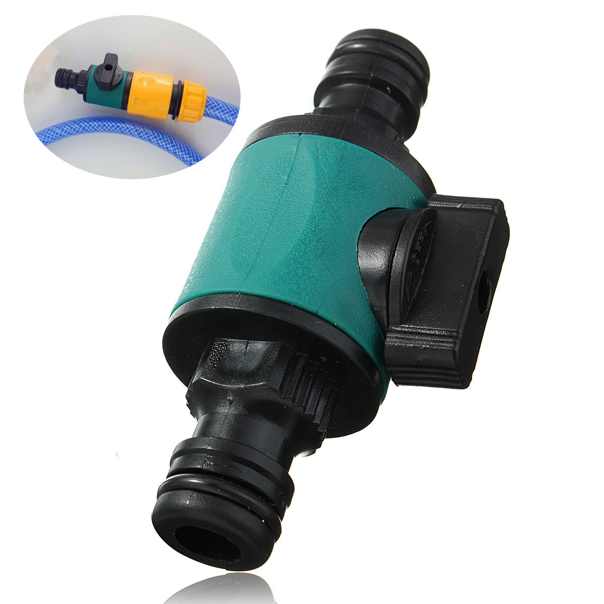 Garden Hose Tap Pipe Compatible 1/2'' 2-Way Connector Valve Convertor Fitting Adapter Tool