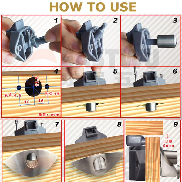 Black Push Lock Drawer Cupboard Door Catch Lock Caravan Furniture Lock