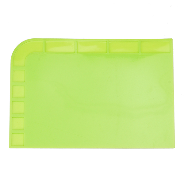 34x23cm Heat Resistant Silicone Pad Desk Mat Maintenance Platform Heat Insulation BGA Soldering Repair Station - Green
