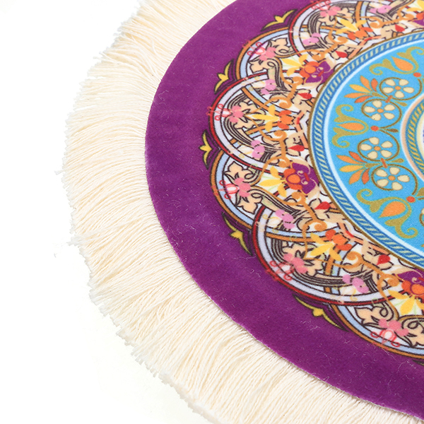 23cm/9'' Bohemia Style Persian Stylish Rug Mat Round Mouse Pad for PC Computer