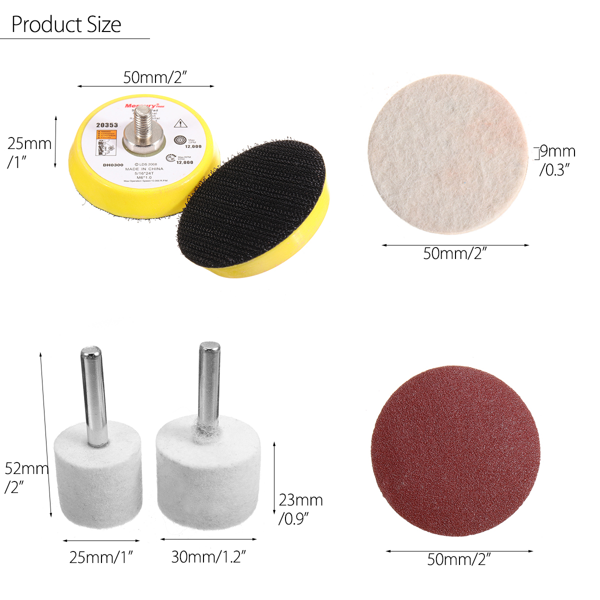 Glass Polishing Tools Kit for Deep Scratch Removal 8 OZ Powder Sanding Discs Pads
