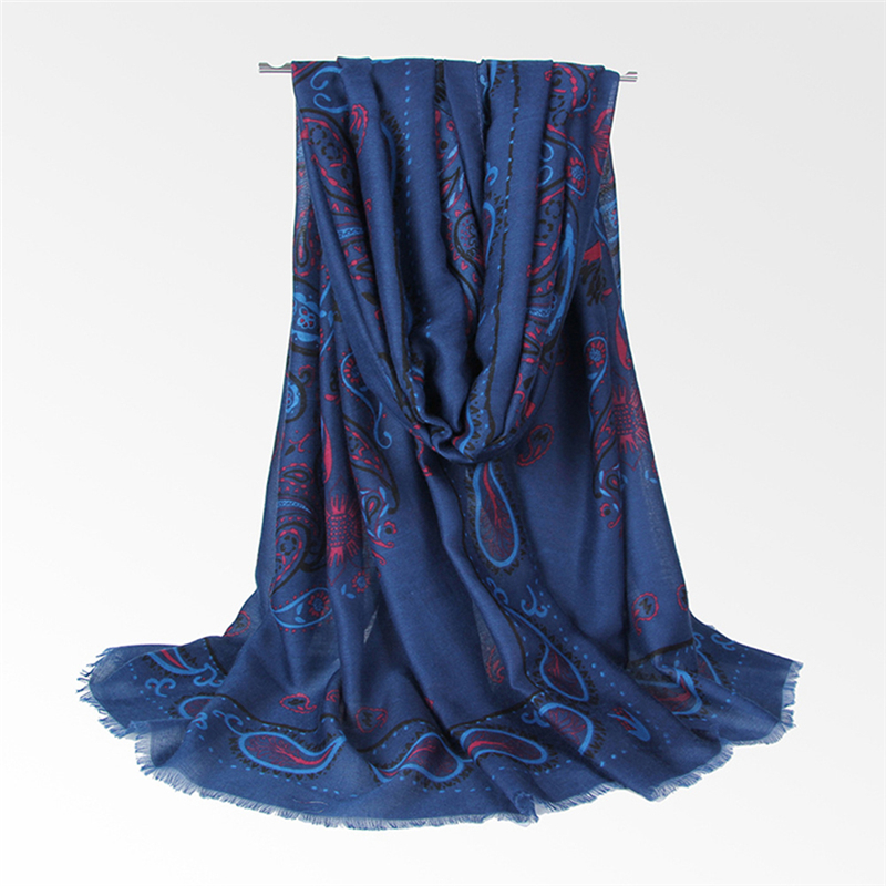 Women Summer Ethnic Style Floral Printing Scarf