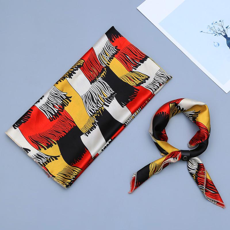 Fashion Girls Small Square Scarf Printed Foulard Neckerchief Bandana Scarves Vintage Style Scarf