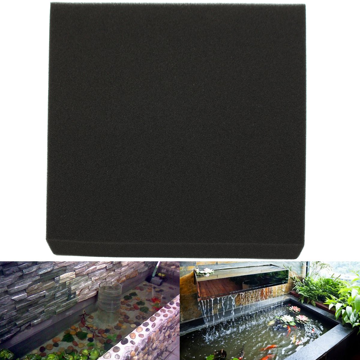 50x50x4cm Black Aquarium Biochemical Cotton Filter Foam Fish Tank Sponge Pads