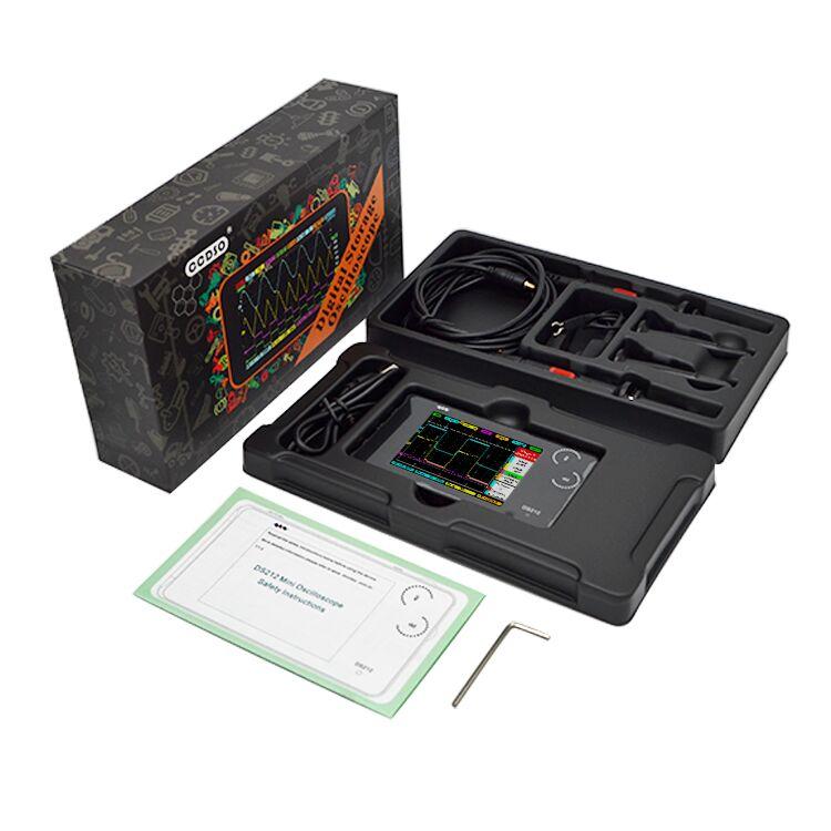 MINI DS212 Digital Storage Oscilloscope Portable Nano Handheld Bandwidth 1MHz Sampling Rate 10MSa/s Thumb Wheel