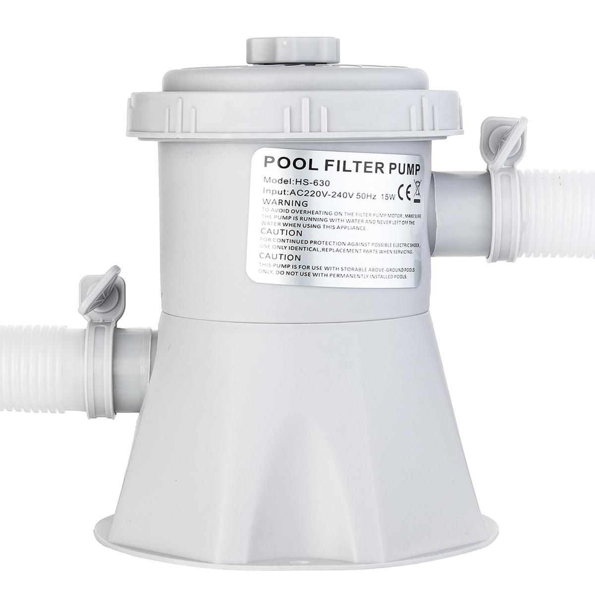 300Gal Swimming Pool Filter Pump 220V Cartridge Filter System Pool Circulating Water Pump