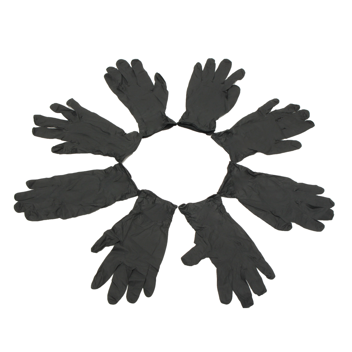 100Pcs S/M/L Black Latex Disposable Gloves Tattoo Piercing Mechanic Medical Gloves
