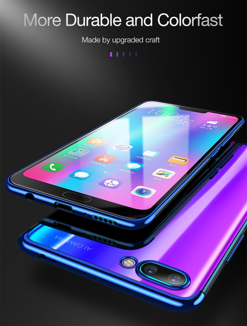 Bakeey Electroplate Ultra Thin Shockproof Protective Case For Huawei Honor 10