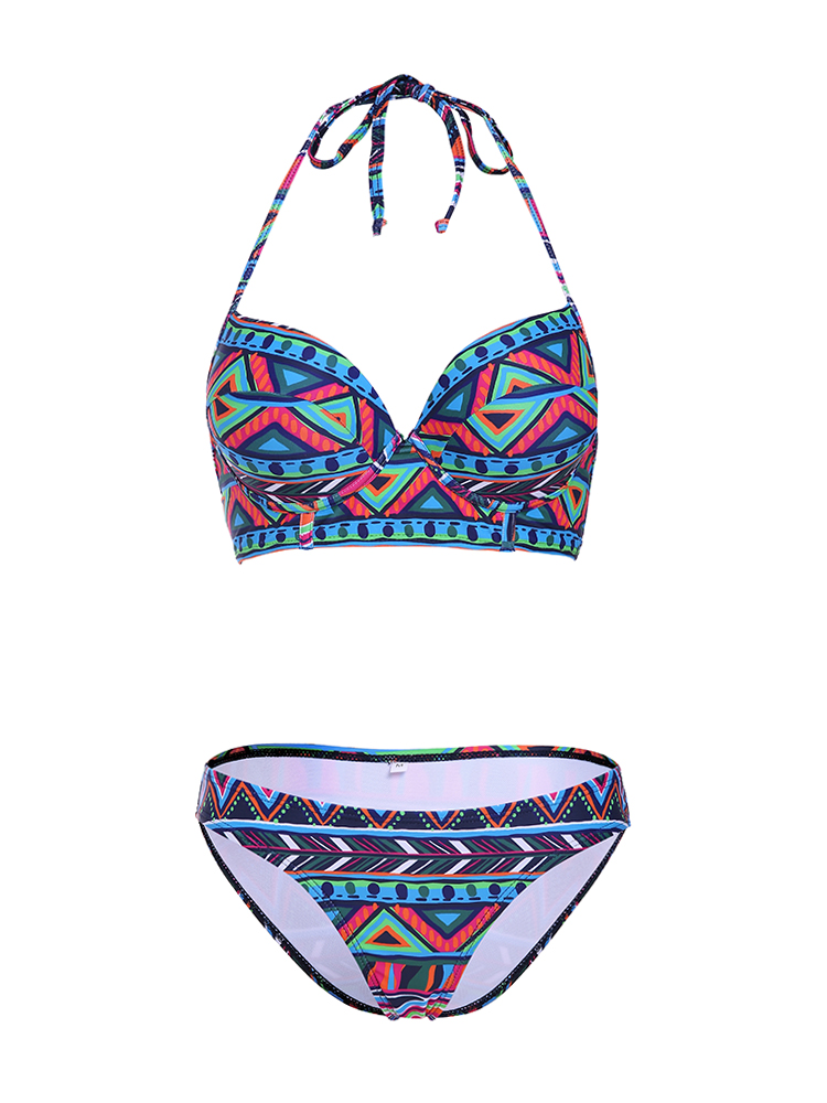 Sexy Geometric Print Push Up Bikinis