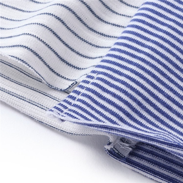 Kids Boy Striped Irregular Short Sleeve T-shirts