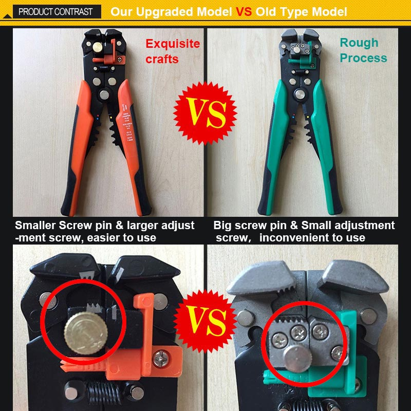DANIU Upgraded Version Multifunctional Automatic Cable Wire Stripper Plier Self Adjusting Crimper Tool 22-10AWG(0.5-6.0mm)