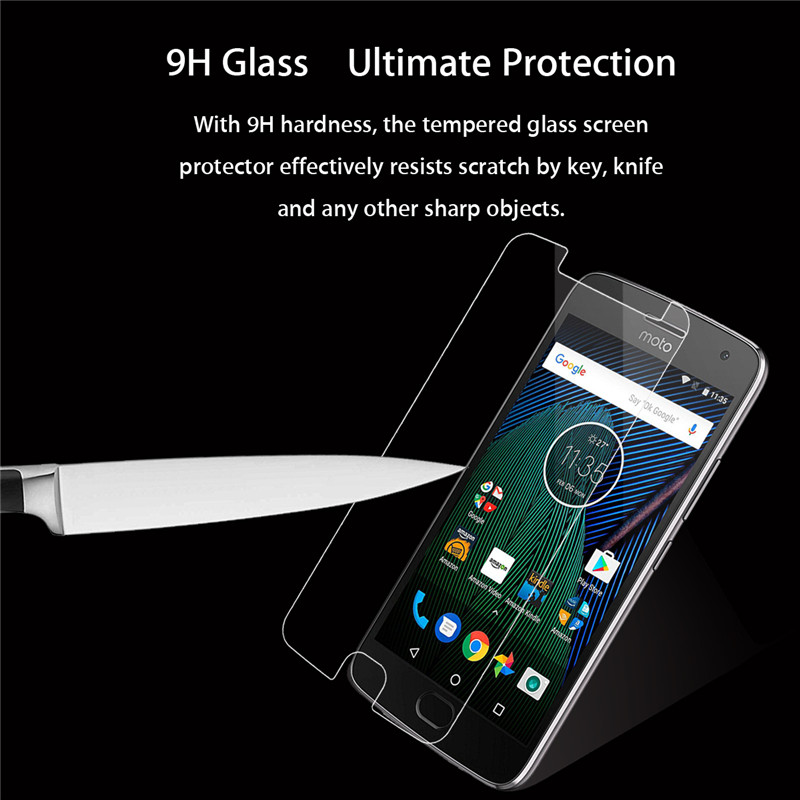 HD 9H Tempered Glass 2.5D Rounded Edge Screen Protector For Motorola Moto G5/G5 Plus