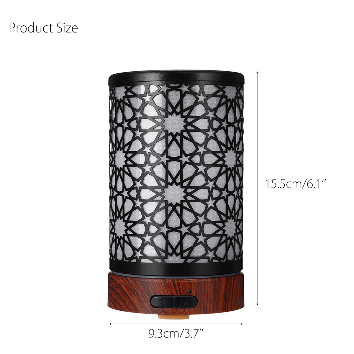 7 Led Color Air Humidifier Essential Oil Diffuser Iron Art