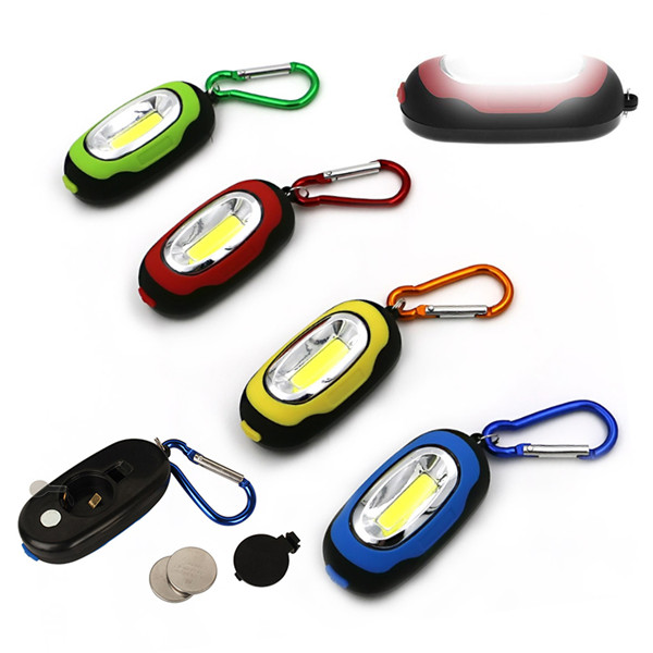 Portable Mini Keychain Pocket Torch COB LED Flashlight with 3Modes Outdoor Emergency Camping Light