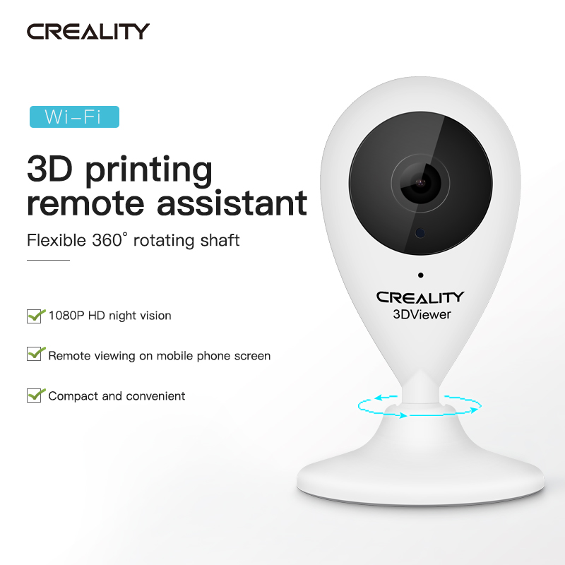 Creality 3D® 3D Viewer 1080P HD Intelligent Remote Monitor Camera With 360° Rotation / IR Function / WIFI / 16G Memory Card For 3D Printer