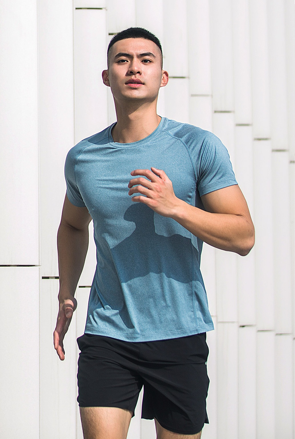 XIAOMI 7th Summer Men Short Sleeve Breathe Freely Flower Yarn Quick-drying Fitness Sport T-shirts