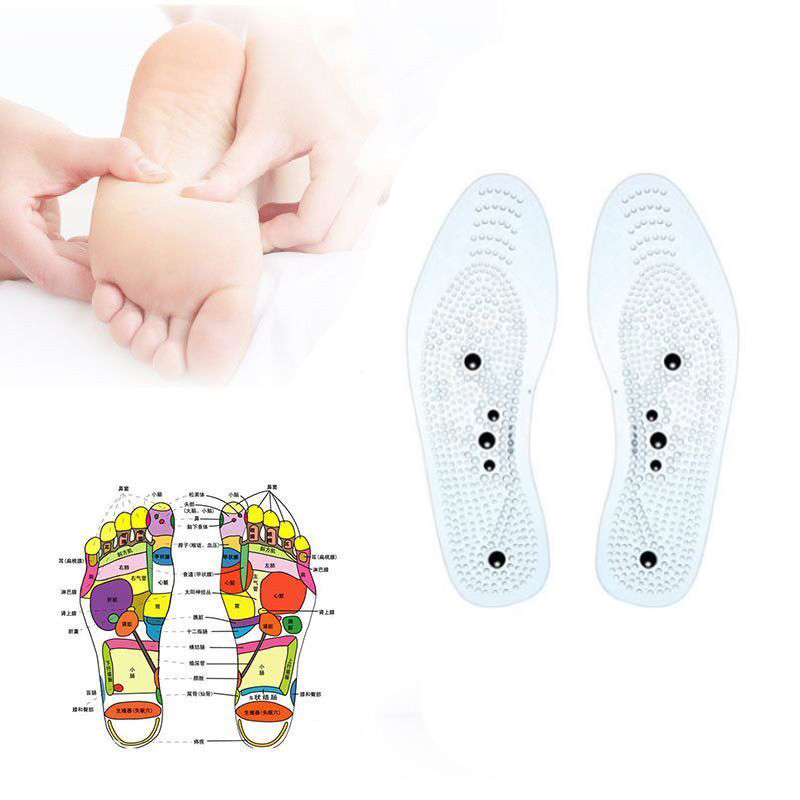 Acupressure Magnetic Massage Foot Therapy Reflexology Pain Relief Shoe Insoles Blood Circulation