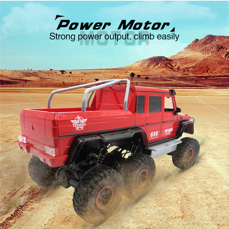 Flytec RC Car 1/12 4CH 6WD Rock Crawler 6x6 Driving Truck Double Motors Big Foot Off-Road Model Toys