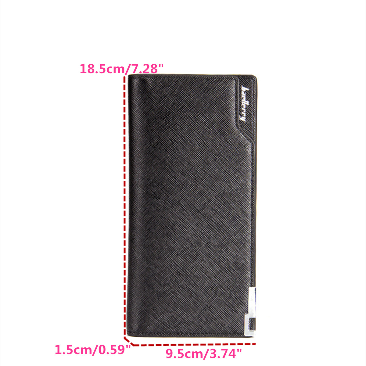 Multifunctional Fashion PU Leather Men's Wallet Purse Card Holder Phone Bag Case for iPhone Samsung