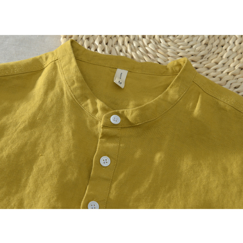 Chinese Style Buttons Design Short-sleeved Tops