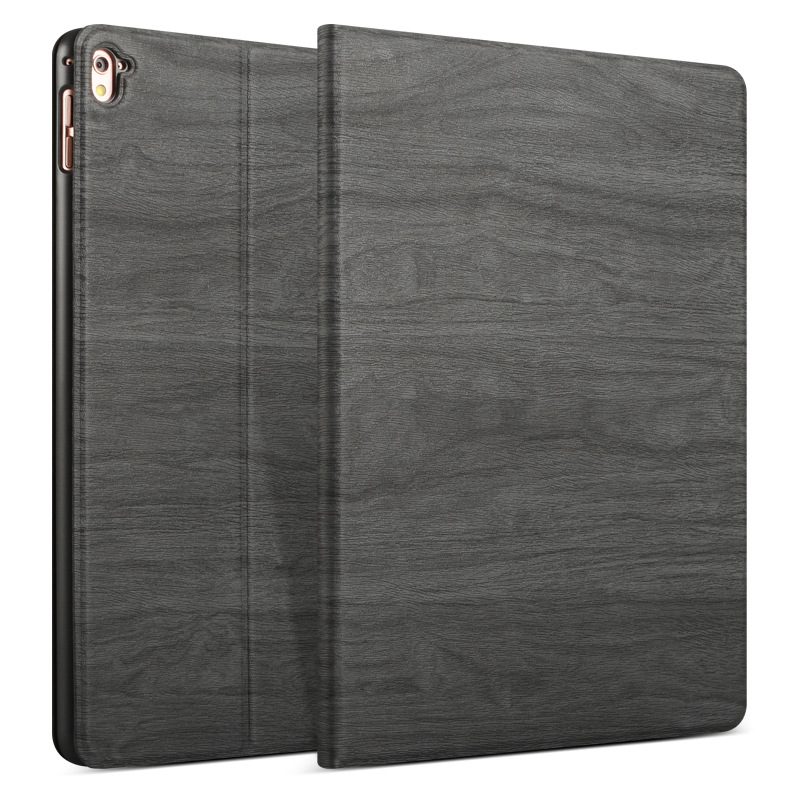 Wood Grain Pattern Smart Sleep Kickstand Case For iPad Pro 9.7 Inch