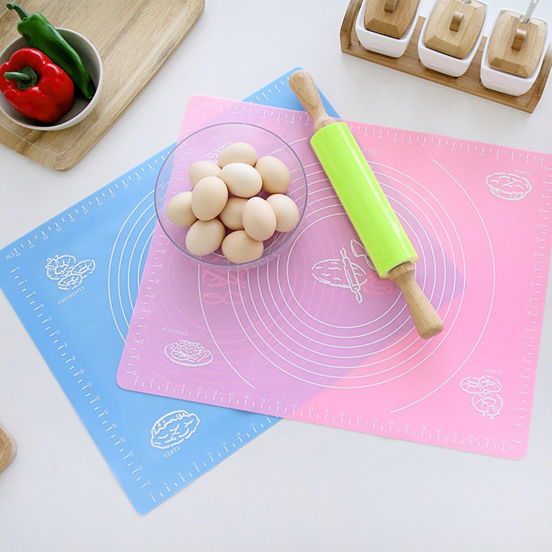 Honana Silicone Baking Mat Non-stick Oven Mat Heat Insulation Pad Kid Picnic Mat With Measurement